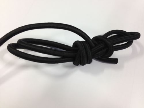 6mm Elastic Shockcord Bungee Boats Marine Black Per Metre
